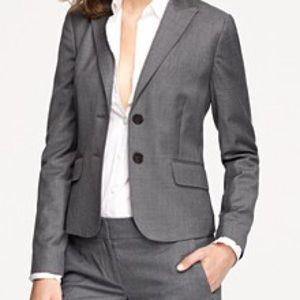 J.Crew 1035 Super 120s wool blazer, charcoal, 6